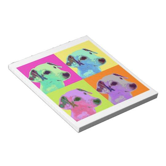 Hund, Jack Russell Terrier. Popart, Warhol - Tier Notizblock