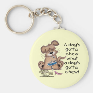 Hund kaut Schuhe Schlüsselanhänger