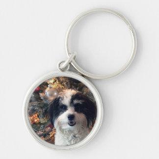 Hund Keychain, rundes Weihnachten K-Cee Schlüsselanhänger