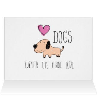 Hund liegen nie über Liebegrußkarte Karte