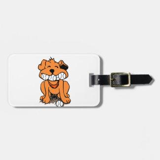 Hund mit Bällen im Mund Gepäckanhänger
