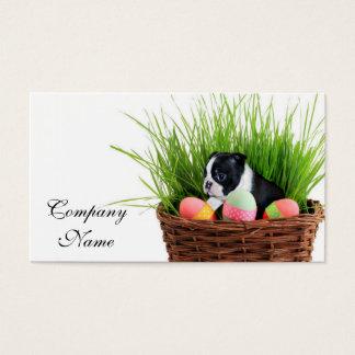 Hund Ostern Boston Terrier Visitenkarte