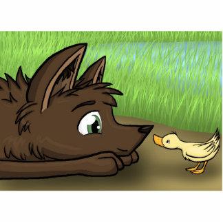 """""""Hund und Ente """" Fotoausschnitt"""