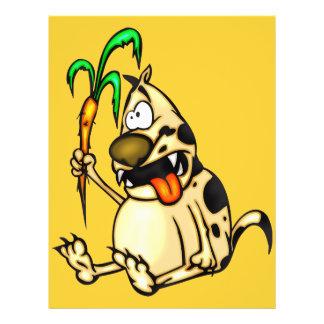 Hund und Karotte Flyerdesign