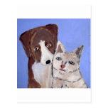 Hund und Katze durch Eric ginsburg Postkarte