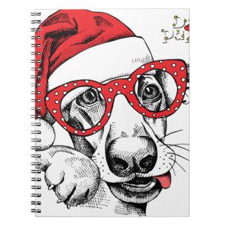 Hund, Weihnachten, Feiertage, Dekorationen, Feier Notizblock