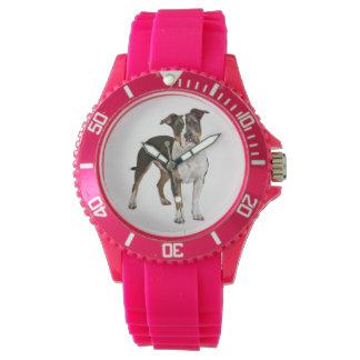 Hündchen amerikanischen Staffordshires Terrier - Armbanduhr