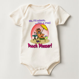 Hündchen bitte baby strampler