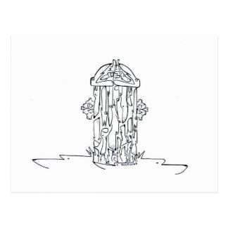 Hündchen-Hydrant Postkarte