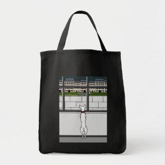 Hündchen in der Stadt-Fenster-Tasche Tragetasche