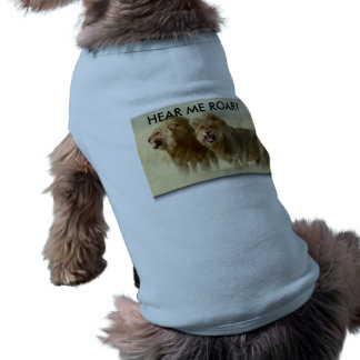 Hündchen mit Rippen versehenes Trägershirt - HÖREN Ärmelfreies Hunde-Shirt