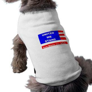 Hündchen-Strickjacke-Jacke - Gott segnen das USA T-Shirt