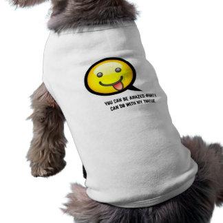 Hündchen-Zunge-Shirt T-Shirt