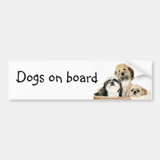 Hunde an Bord Autoaufkleber