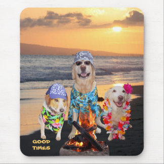 Hunde auf dem Strand Mousepad