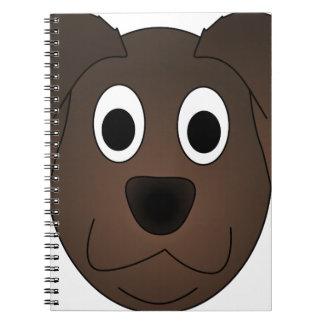 Hunde- Brown-Hundegesicht Notizblock