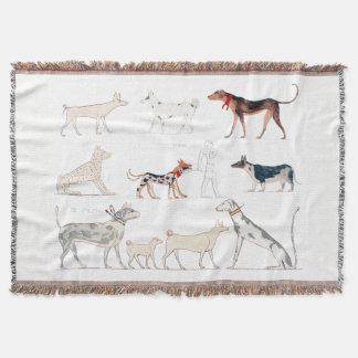 Hunde der altes Ägypten-Wurfs-Decke Decke