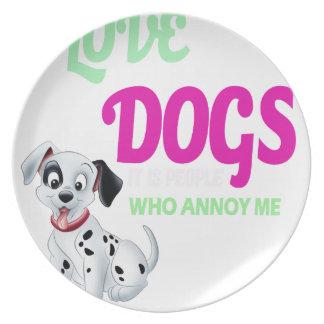 Hunde der Liebe I ist es Leute, die mich stört Melaminteller