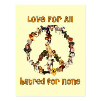 Hunde des Friedens Postkarte