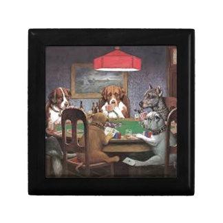 Hunde, die Poker spielen Geschenkbox