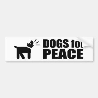 Hunde für Frieden Auto Aufkleber