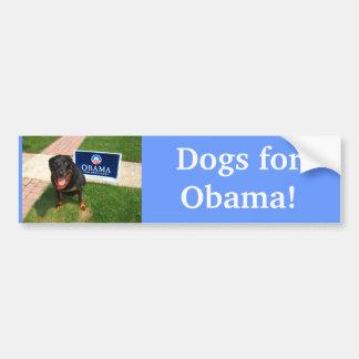 Hunde für Obama! Autoaufkleber