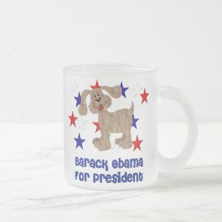 Hunde für Obama Matte Glastasse