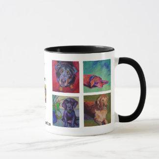 HUNDE, HUNDE, HUNDE • Eine Farbe quadrierte Tasse