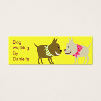 Hunde im Bandana-Haustierpflege-Geschäft Mini Visitenkarte