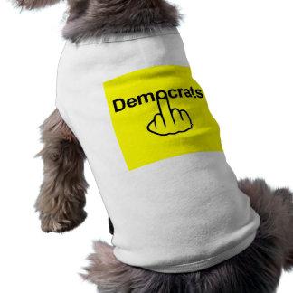 Hunde-Kleidung Demokraten dreht um T-Shirt
