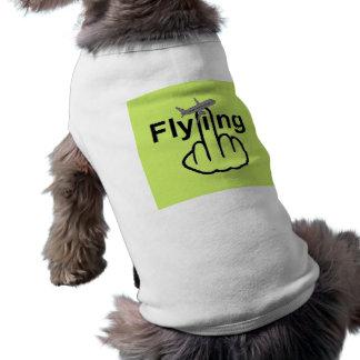 Hunde-Kleidungs-Fliegen dreht um Shirt