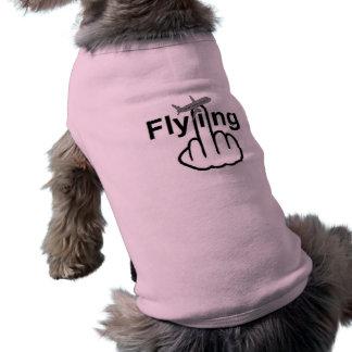 Hunde-Kleidungs-Fliegen dreht um T-Shirt