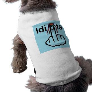 Hunde-Kleidungs-Idioten drehen um T-Shirt