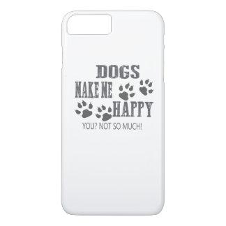Hunde machen mich glücklich! iPhone 8 plus/7 plus hülle