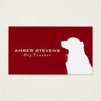 Hunde- Nahaufnahme | Hundetraining (rot) Visitenkarte