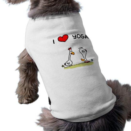 "Hunde-Shirt ""I love yoga"" Top"