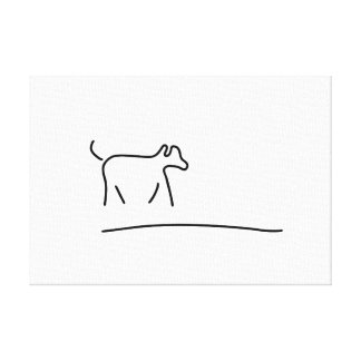 hunde spielen haustier leinwanddruck