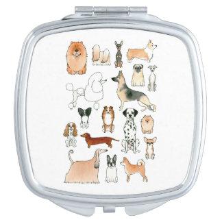Hunde Taschenspiegel