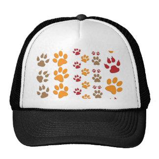 Hunde-u. Katzen-Tatzendrucke entwerfen ~ editable Retrokult Cap