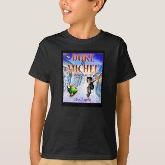 Hunde-u. Skateboardfahrer-schwarzes T-Stück T-Shirt