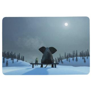 Hunde-und Elefant-Freund-Boden-Matte Bodenmatte