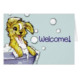 Hunde-und Haustiergroomer-Willkommen - Karte