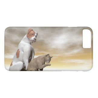 Hunde- und Katzenfreundschaft - 3D übertragen iPhone 7 Plus Hülle