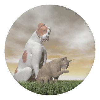 Hunde- und Katzenfreundschaft - 3D übertragen Radiergummis 0