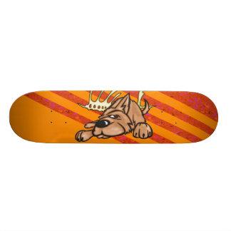 Hunde-und Skelett-Knochen Bedrucktes Skateboard