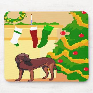 Hunde- Weihnachten Mauspads