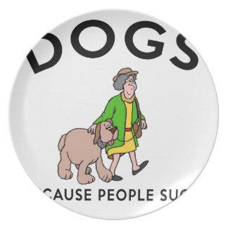 Hunde, weil Leute sind zum Kotzen Teller