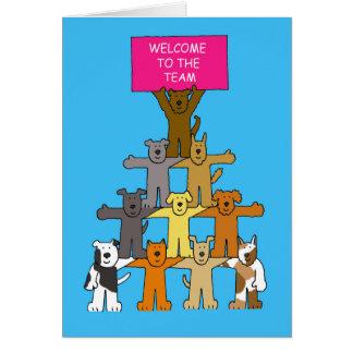 Hunde, Willkommen zum Team Grußkarte