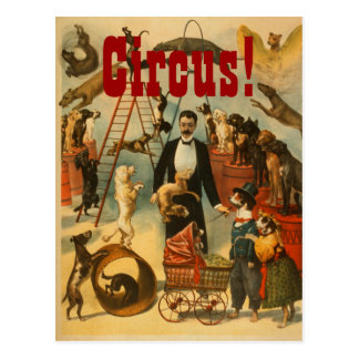 Hunde- Zirkus - Postkarte #2
