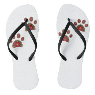 Hundeabdrücke Flip Flops
